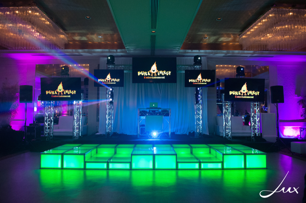 Illuminated Staging & Dance Risers